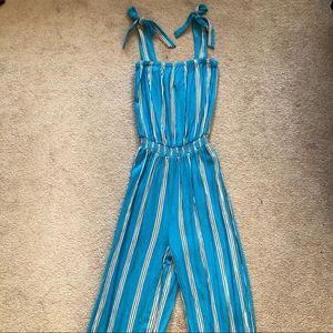 NWOT H&M striped jumpsuit size 2